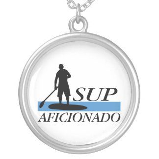 Stand Up Paddleboard Aficionado Silver Plated Necklace