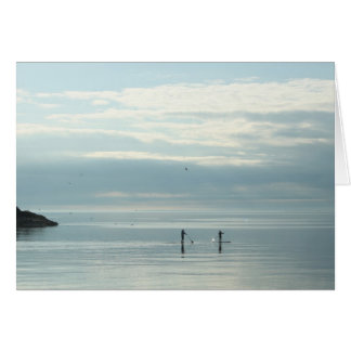 Stand Up Paddleboarders on Lake Superior Card