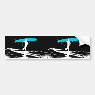 Stand Up Paddleboarding Session Over (2 Up blk) Bumper Sticker