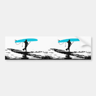 Stand Up Paddleboarding Session Over (2 Up) Bumper Sticker