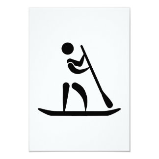 Stand up paddling 3.5x5 paper invitation card