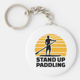 Stand up paddling keychain