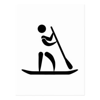 Stand up paddling postcard