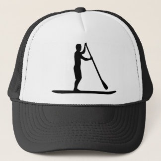 Stand up paddling trucker hat