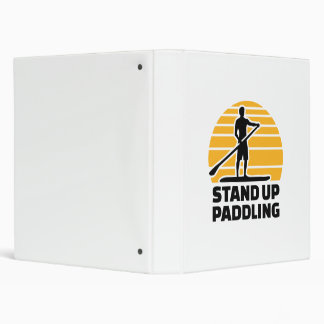 Stand up paddling vinyl binder