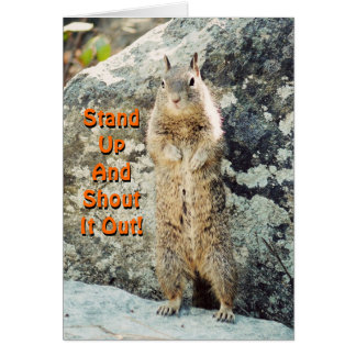 Stand Up Squirrel Card