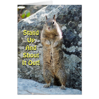 Stand Up Squirrel Greeting Card