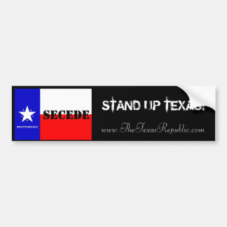 STAND UP TEXAS! BUMPER STICKER