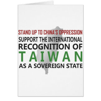 Stand Up To China Greeting Cards