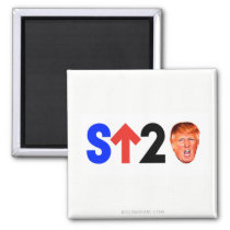 Stand Up to Trump! Magnet
