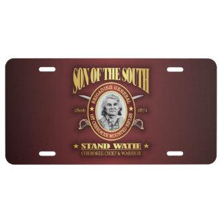 Stand Watie (SOTS2) License Plate