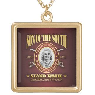 Stand Watie (SOTS2) Square Pendant Necklace