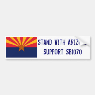 Stand With Arizona Car Bumper Sticker