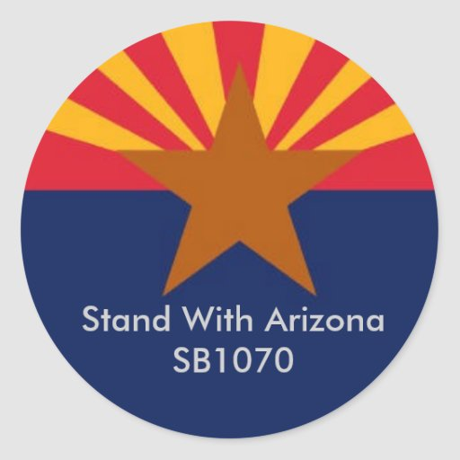 Stand With Arizona Classic Round Sticker