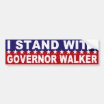 Stand with Governor Walker Bumper Sticker Car Bumper Sticker