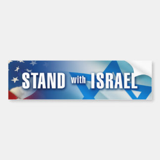 STAND with ISRAEL Car Bumper Sticker
