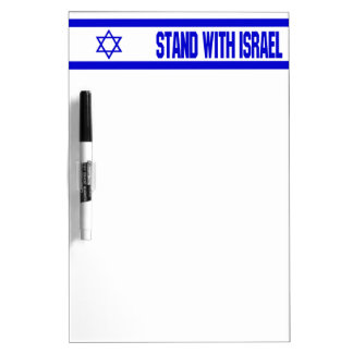 Stand With Israel Dry-Erase Whiteboards