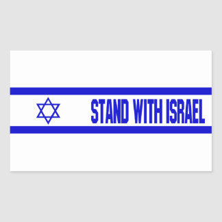 Stand With Israel Rectangular Sticker
