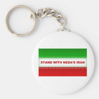 Stand with Neda's Iran Keychain