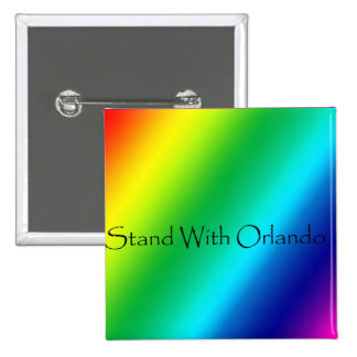 Stand With Orlando Pinback Button