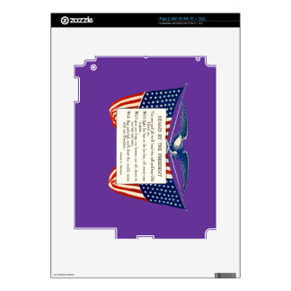 STAND WITH OUR PRESIDENT iPad 2 DECALS