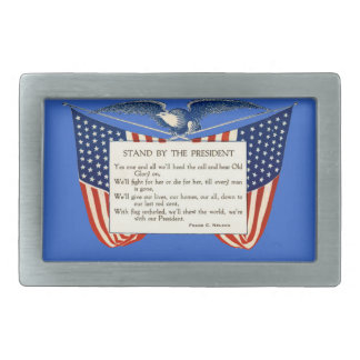 STAND WITH OUR PRESIDENT RECTANGULAR BELT BUCKLE