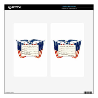 STAND WITH OUR PRESIDENT SKINS FOR KINDLE FIRE