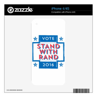 Stand with Rand 2016 Decal For The iPhone 4S