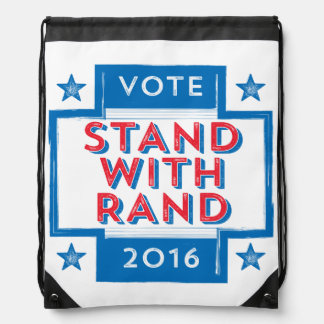 Stand with Rand 2016 Drawstring Backpack