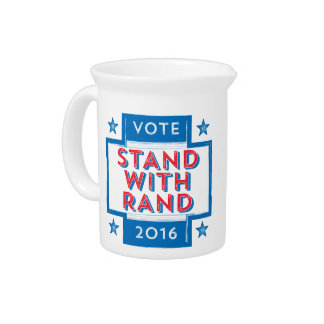 Stand with Rand 2016 Drink Pitchers