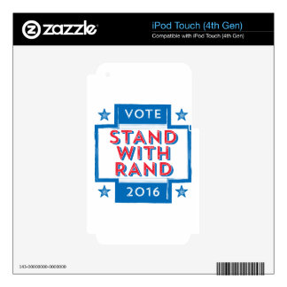 Stand with Rand 2016 iPod Touch 4G Decals