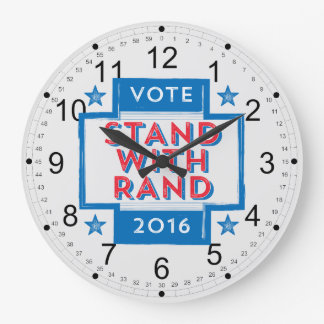 Stand with Rand 2016 Large Clock