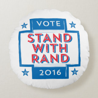 Stand with Rand 2016 Round Pillow