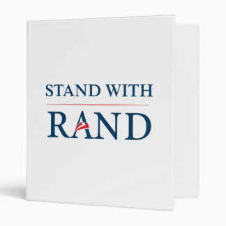 Stand With Rand 3 Ring Binder