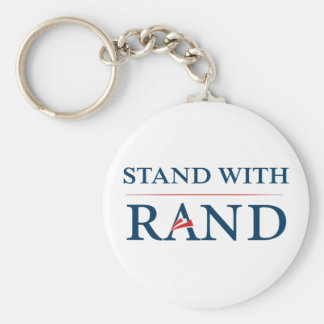 Stand With Rand Basic Round Button Keychain