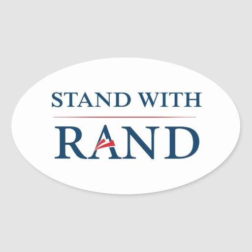 Stand With Rand Oval Sticker