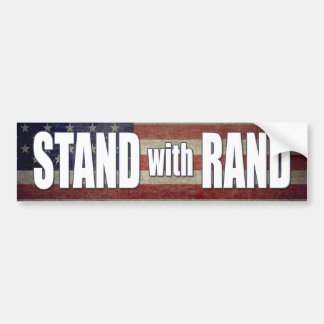 Stand with Rand Paul 2016 Car Bumper Sticker