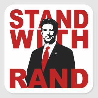 Stand With Rand Square Stickers