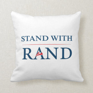 Stand With Rand Throw Pillow