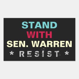 Stand With Senator Warren RESIST Sticker