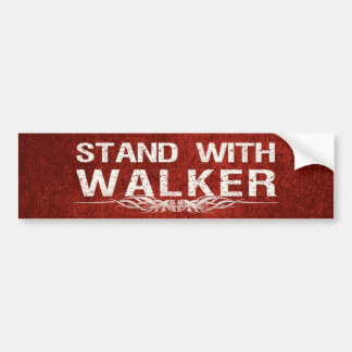 Stand With Walker of Wisconsin Political Car Bumper Sticker