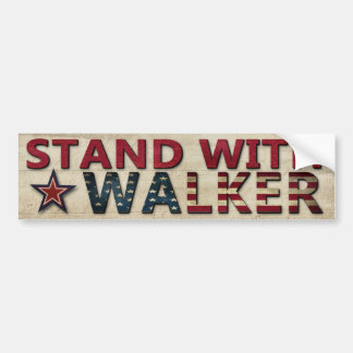 Stand With Walker Political Election Campaign Car Bumper Sticker