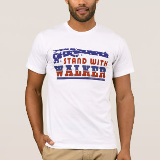 Stand With Walker Red White and Blue T-Shirt