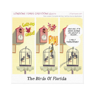 Stand Your Ground Birds Of Fl Funny Canvas Print Canvas Prints