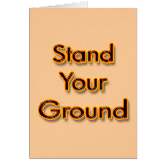 Stand Your Ground fire Card