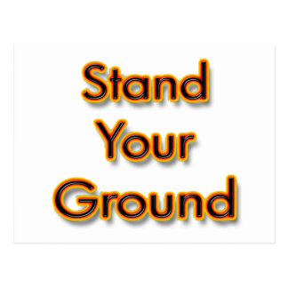 Stand Your Ground fire Postcard