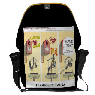 Stand Your Ground Funny Bird With Gun Courier Bag