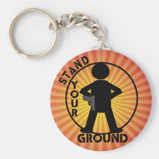 STAND YOUR GROUND LAW KEYCHAINS