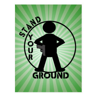 STAND YOUR GROUND LAW POSTCARD