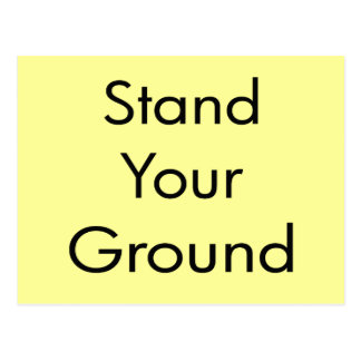 Stand Your Ground Postcard
